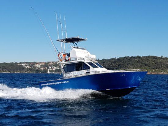 A Wahoo Fishing Charters boat.